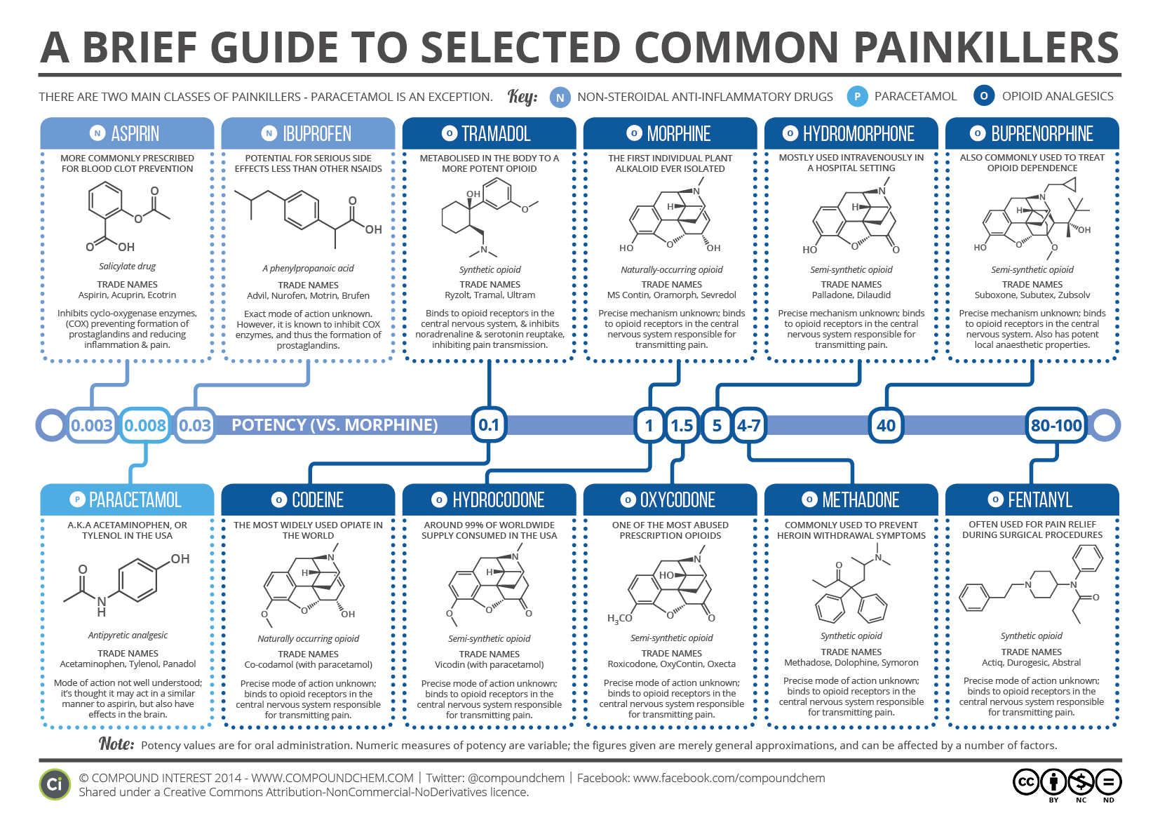 Brief Guide to Common Painkillers [2016]