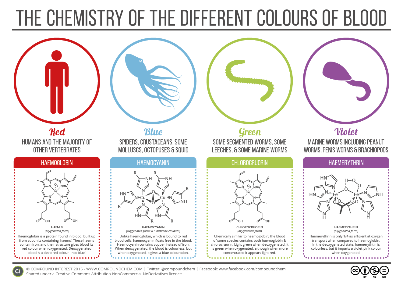 The Chemistry Of The Colours Of Blood Compound Interest