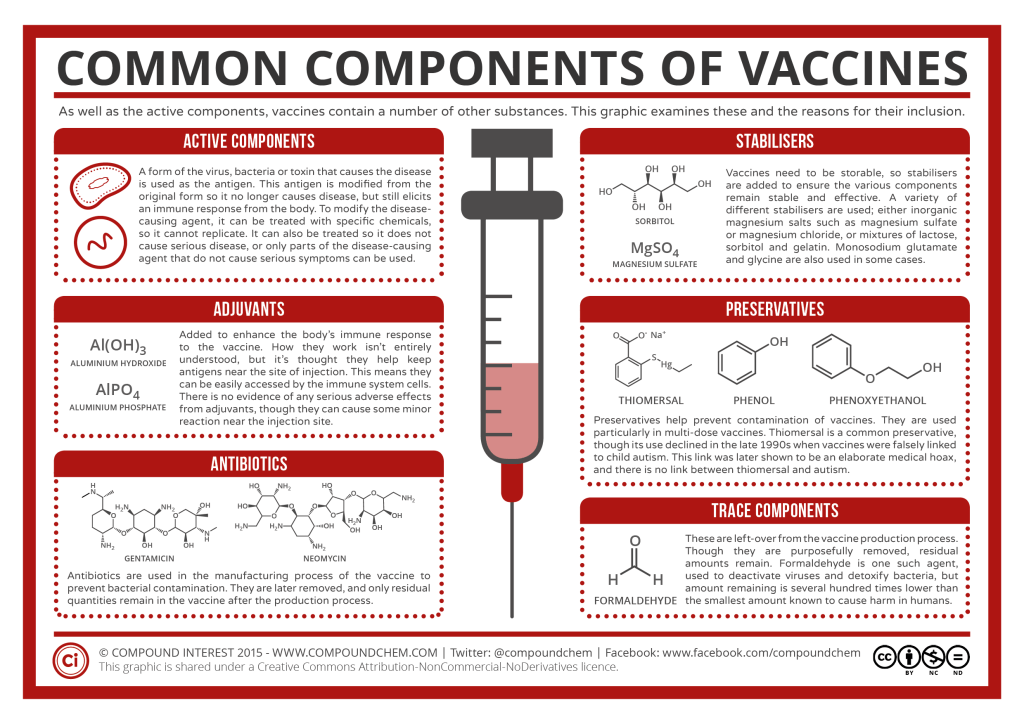 Medicinal Chemistry - Common Components of Vaccines Summary