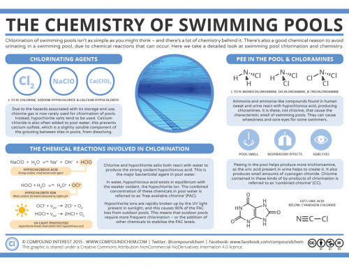 Chlorination & Pee in the Pool: The Chemistry of Swimming Pools
