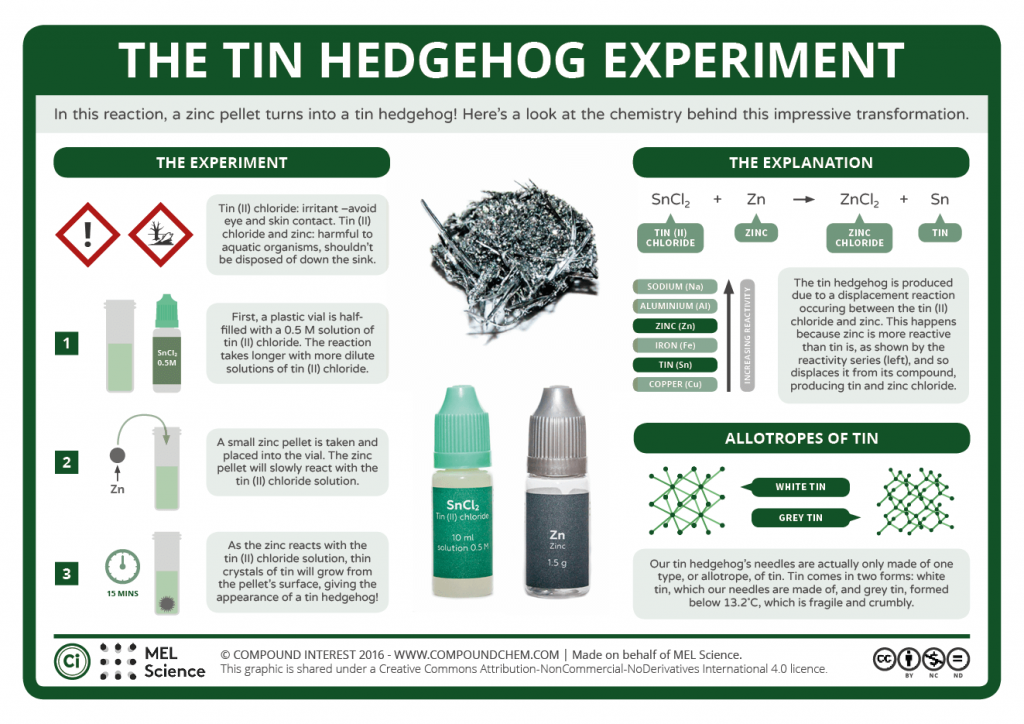 Tin Hedgehog Experiment