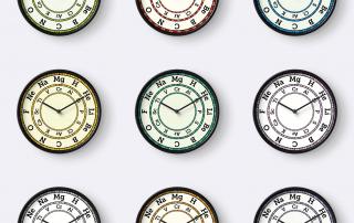 Compound Interest Chemistry Clocks
