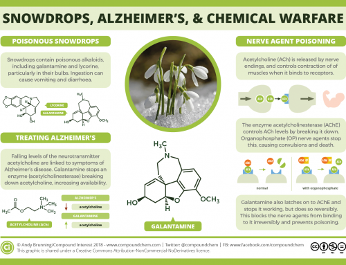 What links snowdrops, Alzheimer's disease, and chemical warfare?