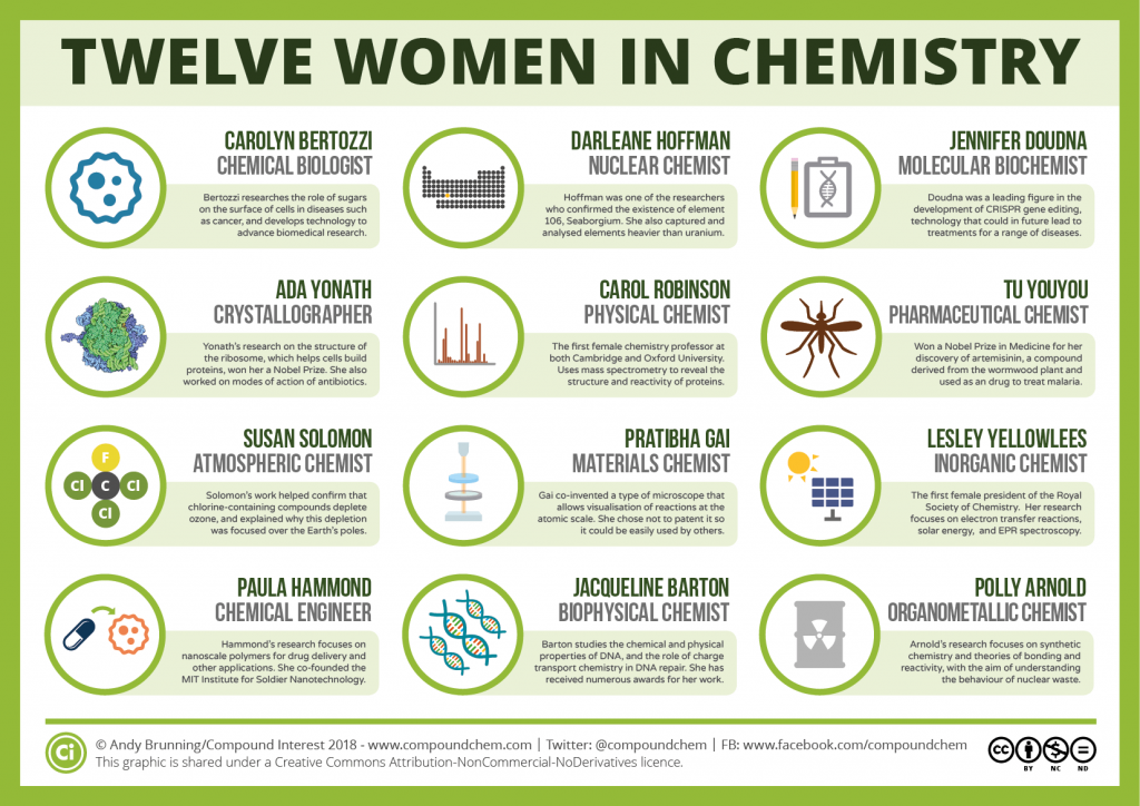 Twelve Women in Chemistry