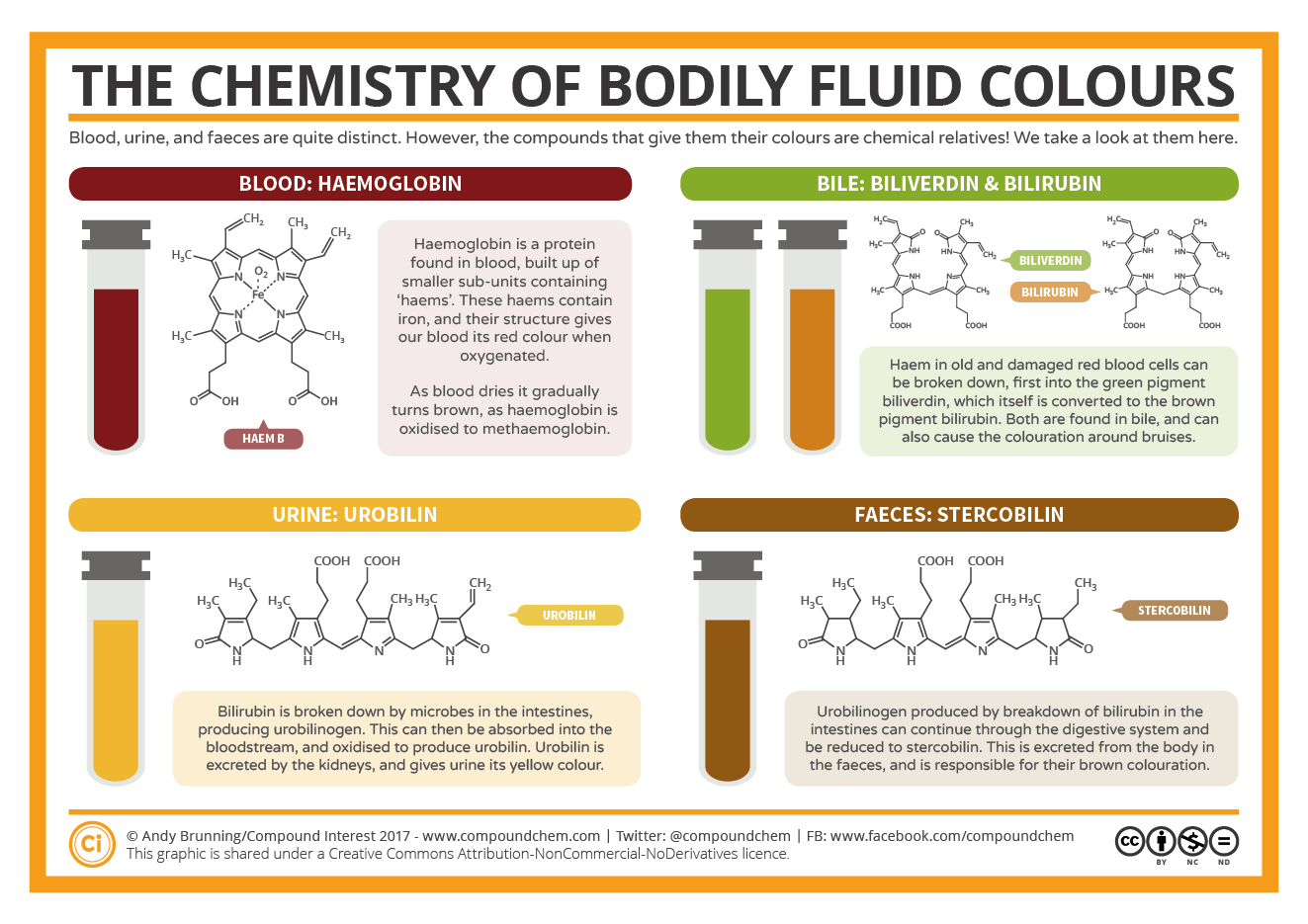 The Chemistry Of The Colours Of Bodily Fluids Compound