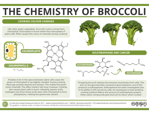 Broccoli colour changes and cancer-fighting compounds