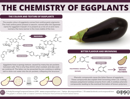 The chemistry of aubergine (eggplant) colour, bitterness and browning